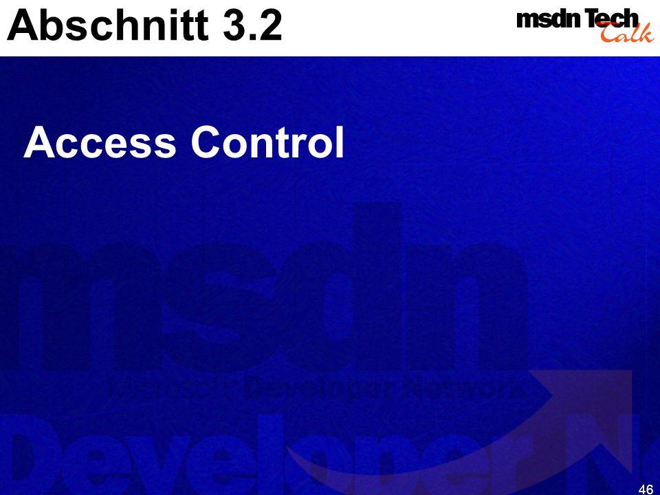 Abschnitt 3.2 Access Control