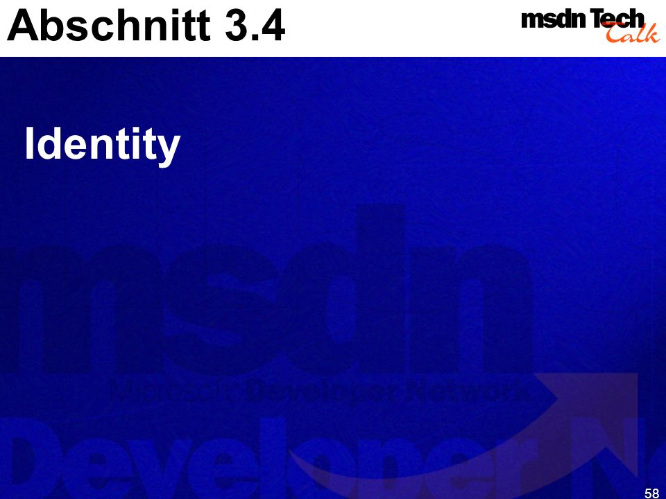 Abschnitt 3.4 Identity