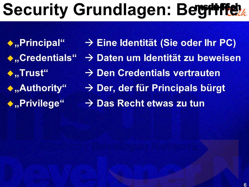 Security Grundlagen: Begriffe