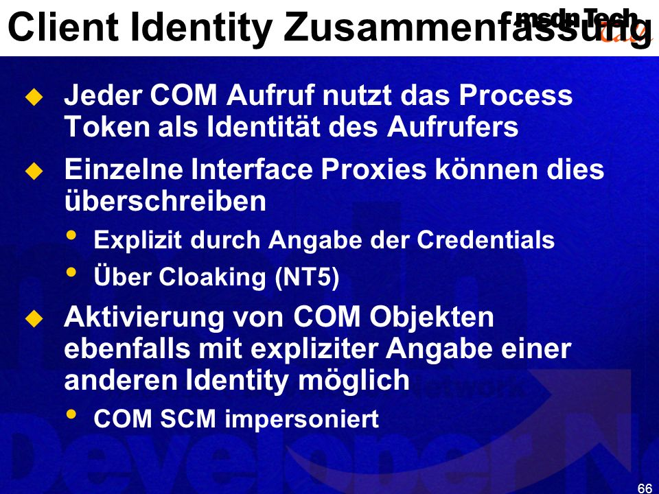 Client Identity Zusammenfassung