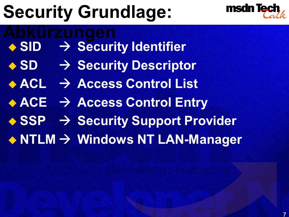 Security Grundlage: Abkürzungen