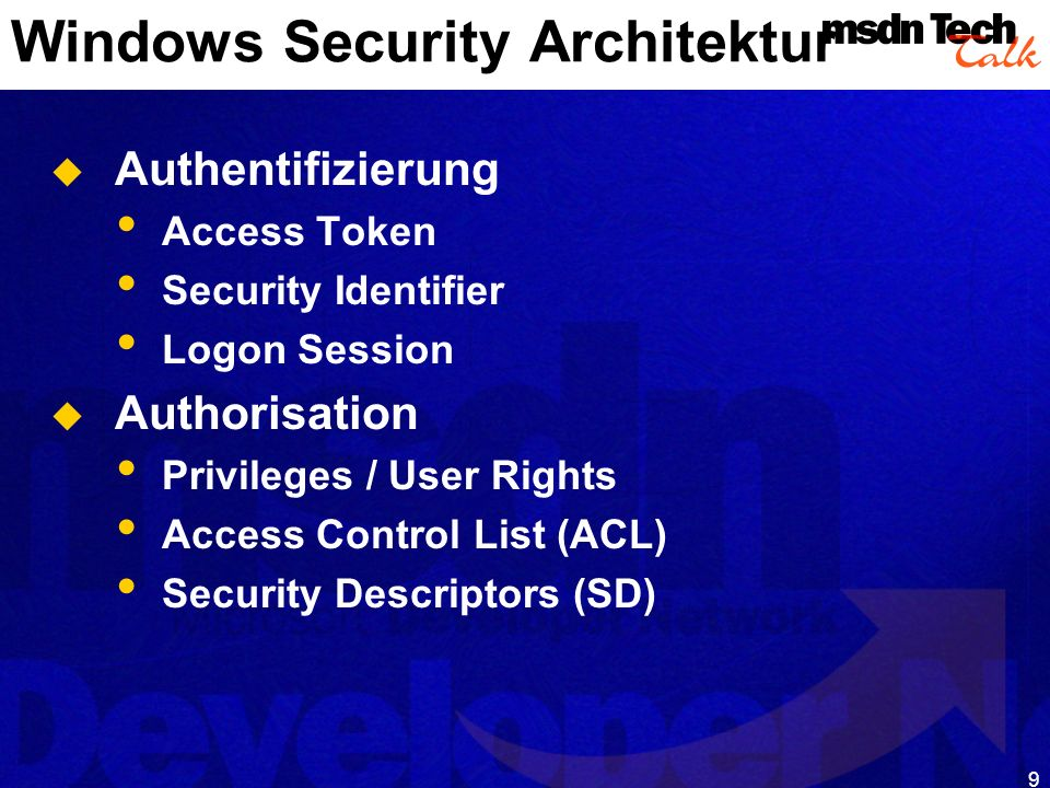 Windows Security Architektur
