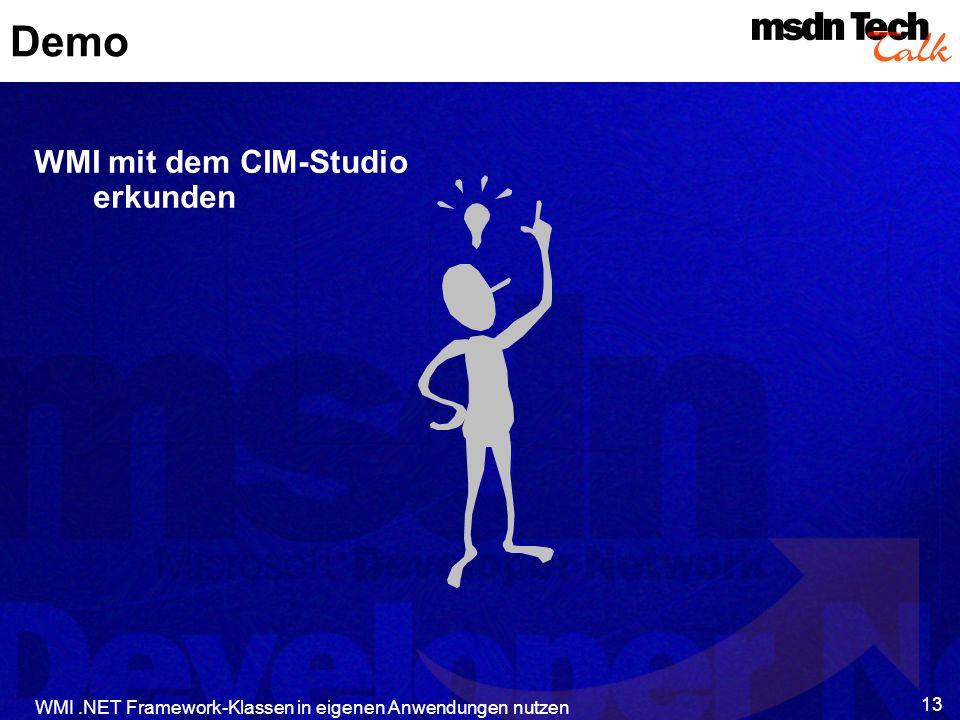 Demo WMI mit dem CIM-Studio erkunden