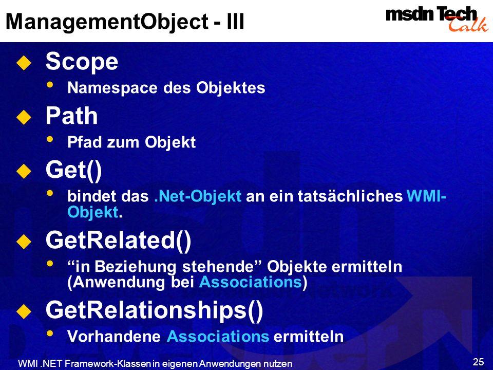 ManagementObject - III