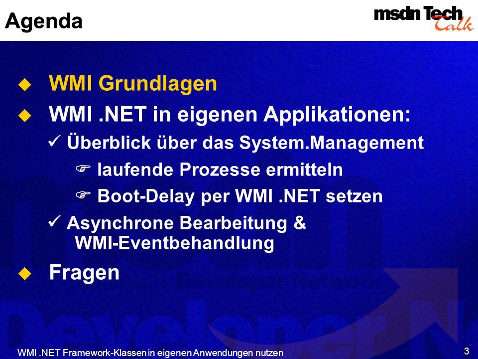 WMI .NET in eigenen Applikationen: