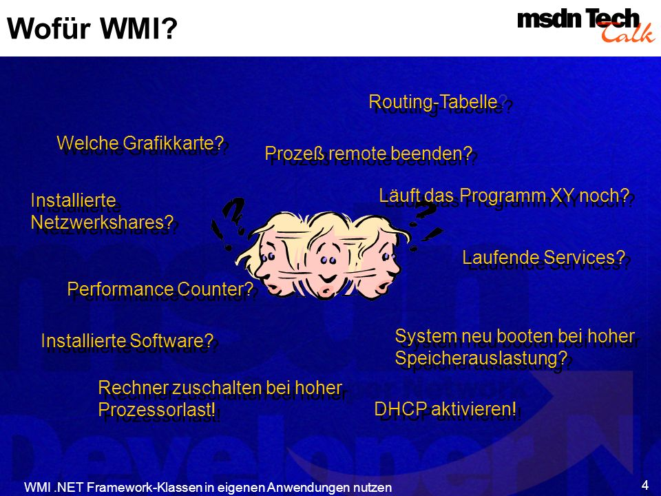 Wofür WMI Routing-Tabelle Welche Grafikkarte Prozeß remote beenden