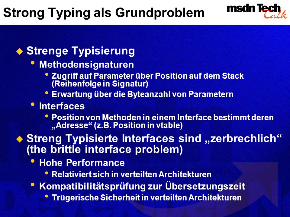 Strong Typing als Grundproblem