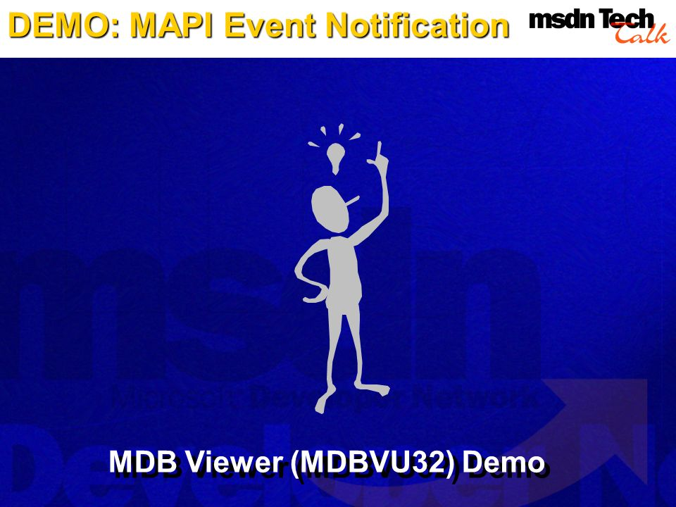 DEMO: MAPI Event Notification