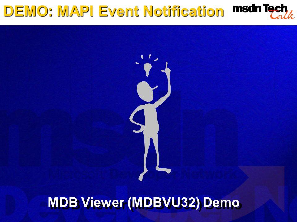 DEMO: MAPI Event Notification