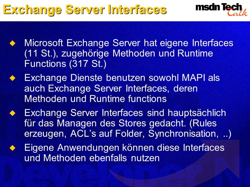Exchange Server Interfaces