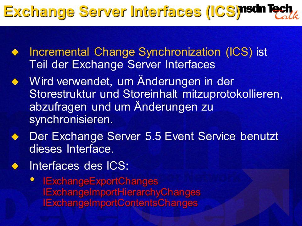 Exchange Server Interfaces (ICS)
