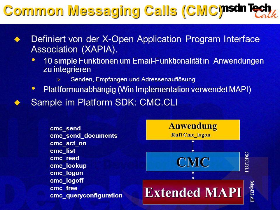 Common Messaging Calls (CMC)