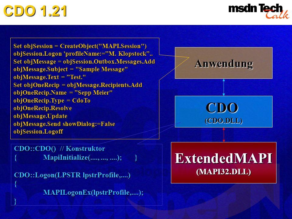 ExtendedMAPI (MAPI32.DLL)
