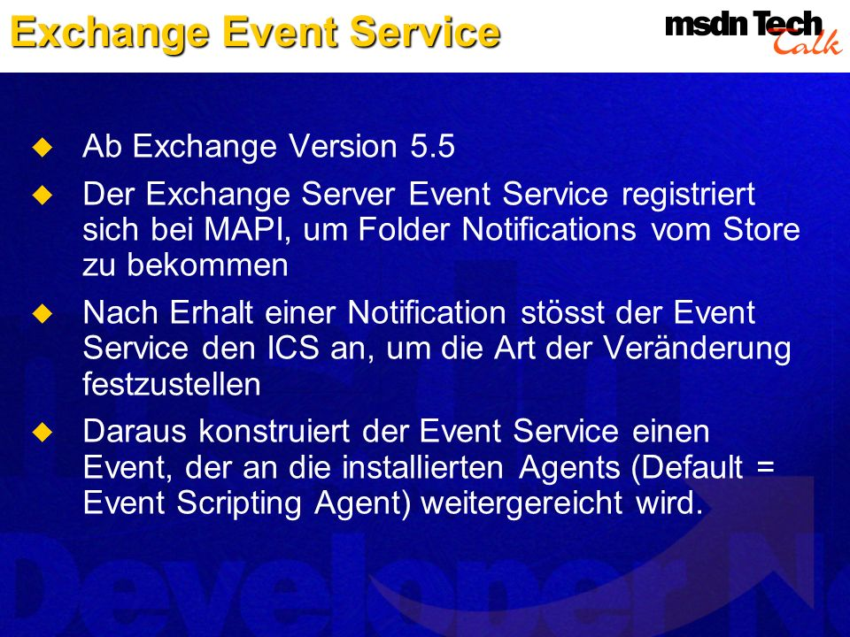 Exchange Event Service