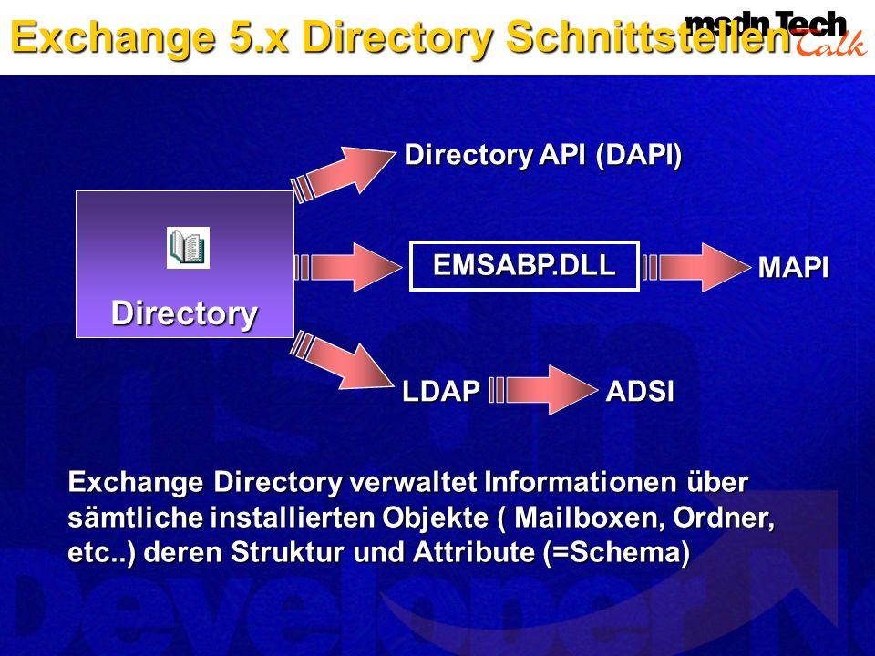 Exchange 5.x Directory Schnittstellen