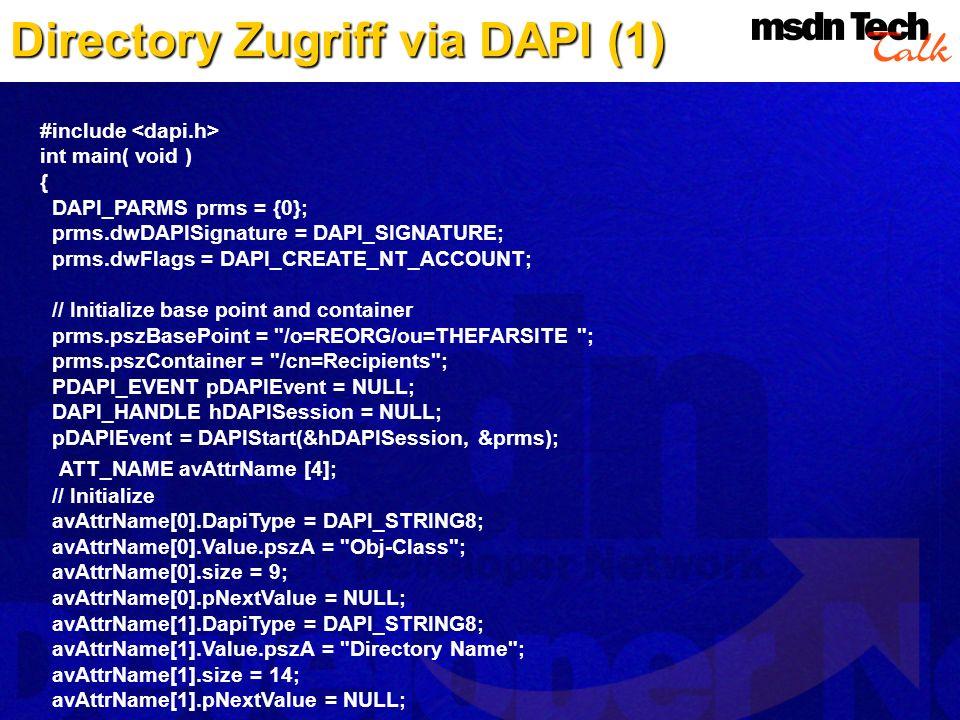 Directory Zugriff via DAPI (1)
