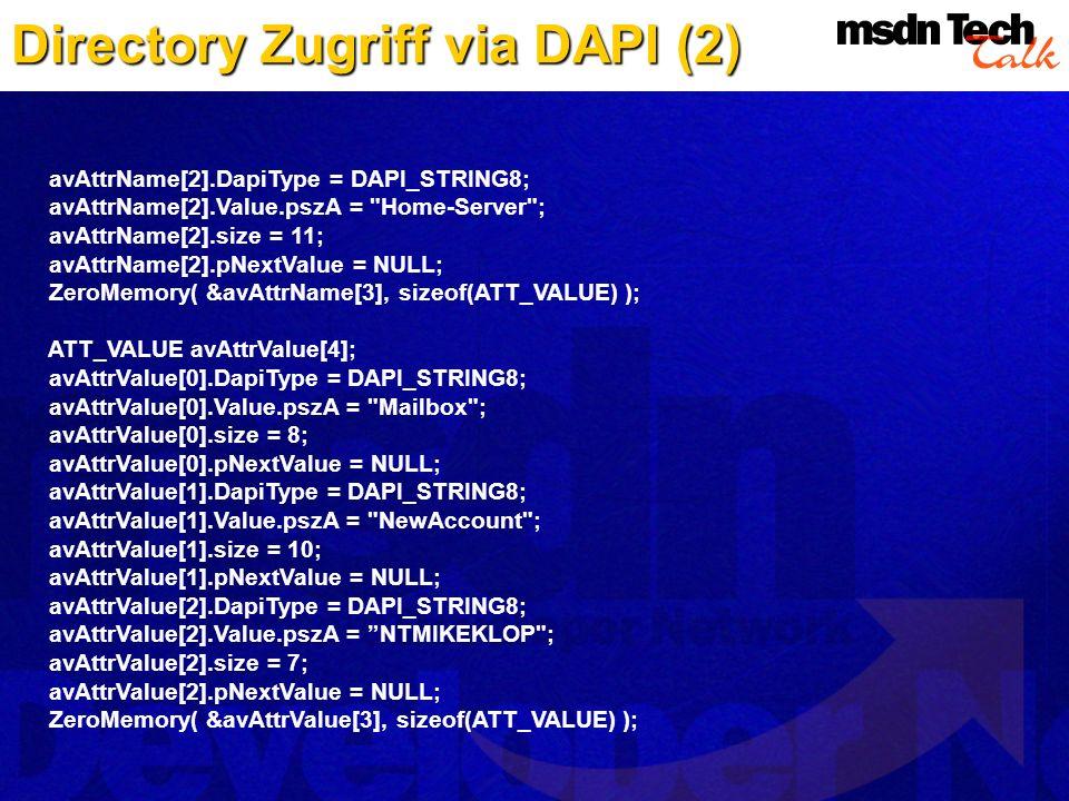 Directory Zugriff via DAPI (2)