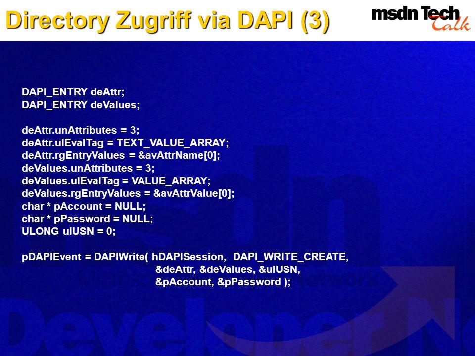 Directory Zugriff via DAPI (3)