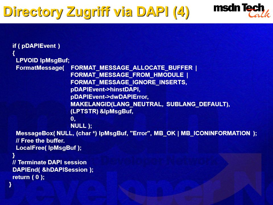 Directory Zugriff via DAPI (4)