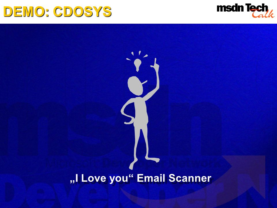 "DEMO: CDOSYS ""I Love you Email Scanner"