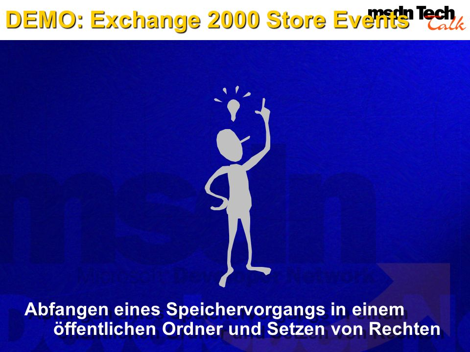 DEMO: Exchange 2000 Store Events