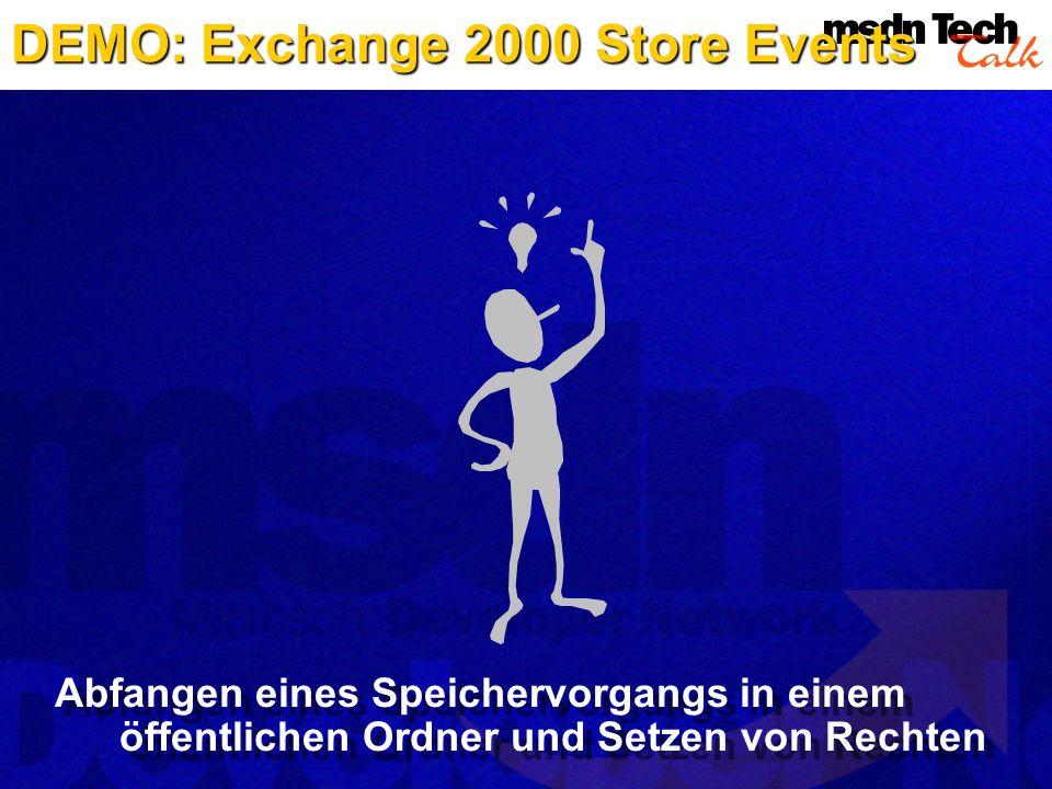 DEMO: Exchange 2000 Store Events