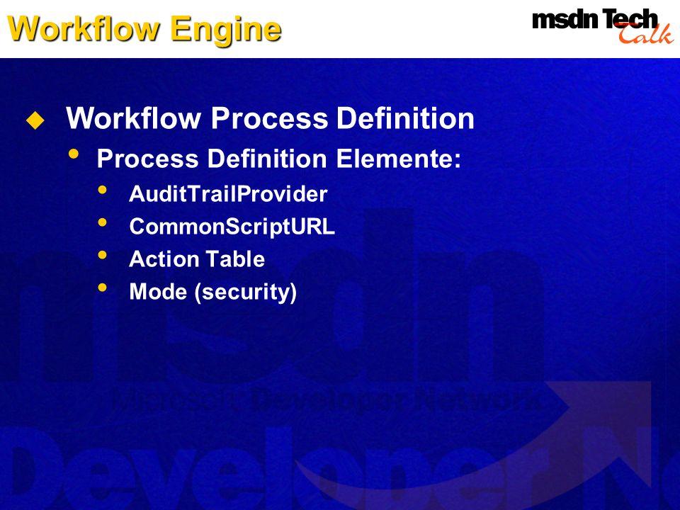 Workflow Engine Workflow Process Definition