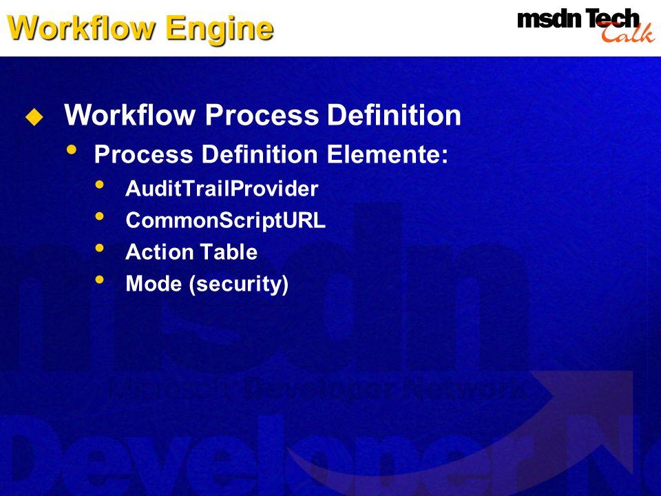 Workflow Engine Workflow Process Definition