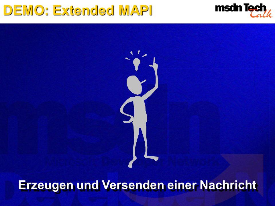 DEMO: Extended MAPI Erzeugen und Versenden einer Nachricht