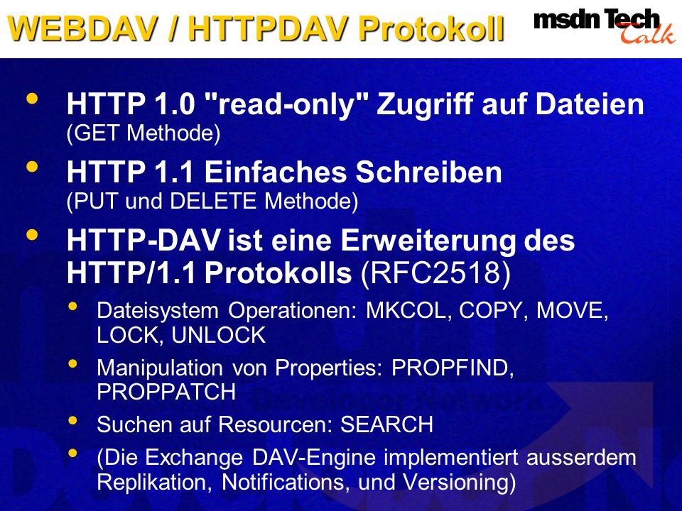 WEBDAV / HTTPDAV Protokoll