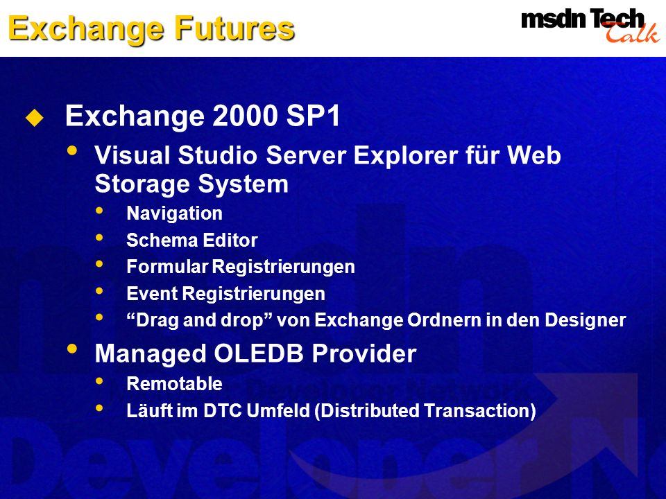 Exchange Futures Exchange 2000 SP1