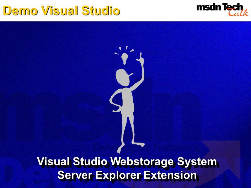 Visual Studio Webstorage System Server Explorer Extension