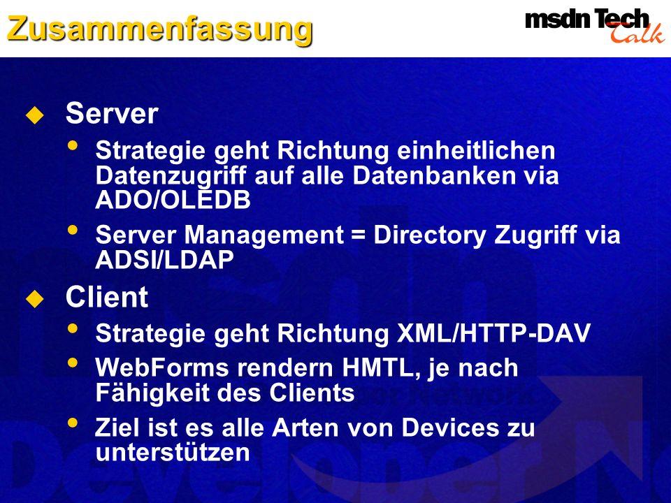Zusammenfassung Server Client