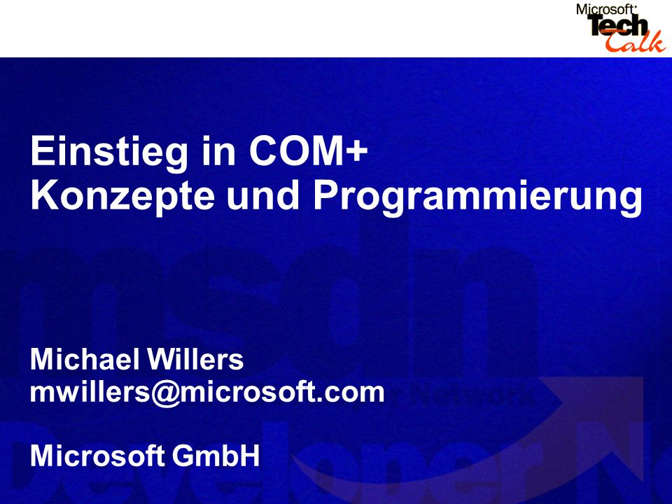 Konzepte und Programmierung