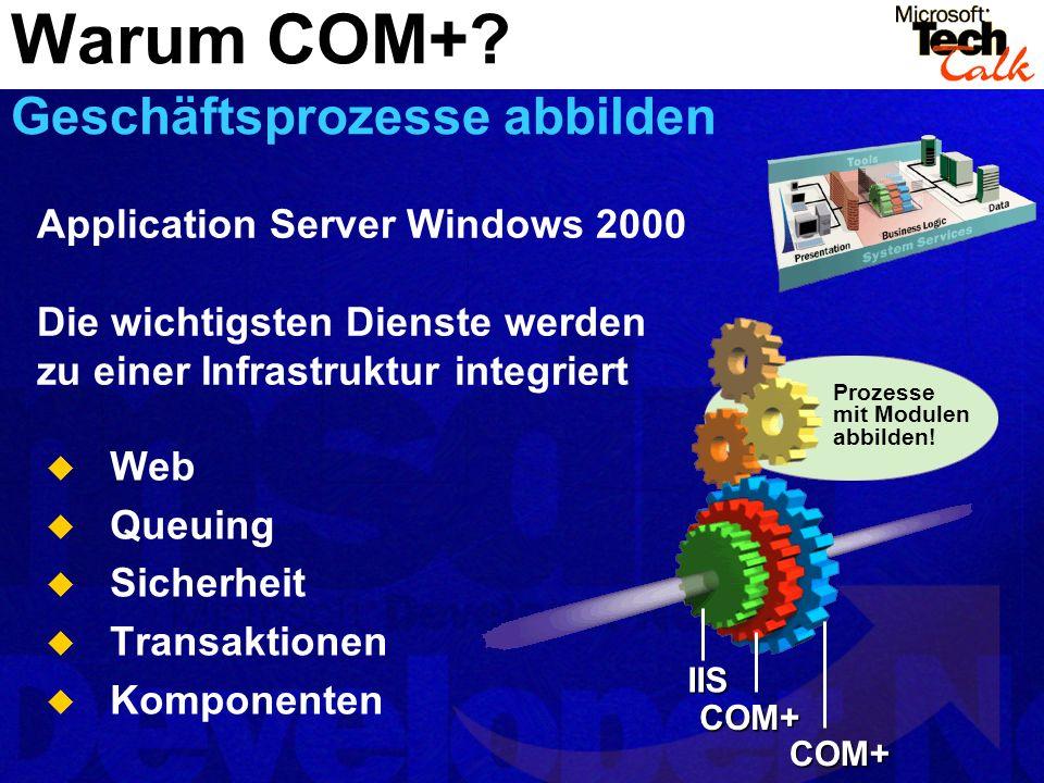 Warum COM+ Geschäftsprozesse abbilden