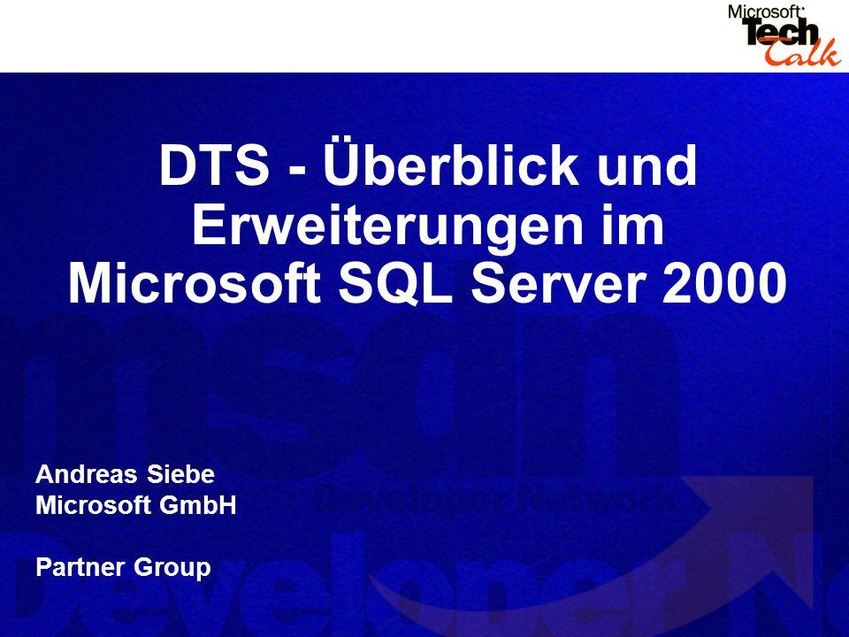DTS - Überblick und Erweiterungen im Microsoft SQL Server 2000