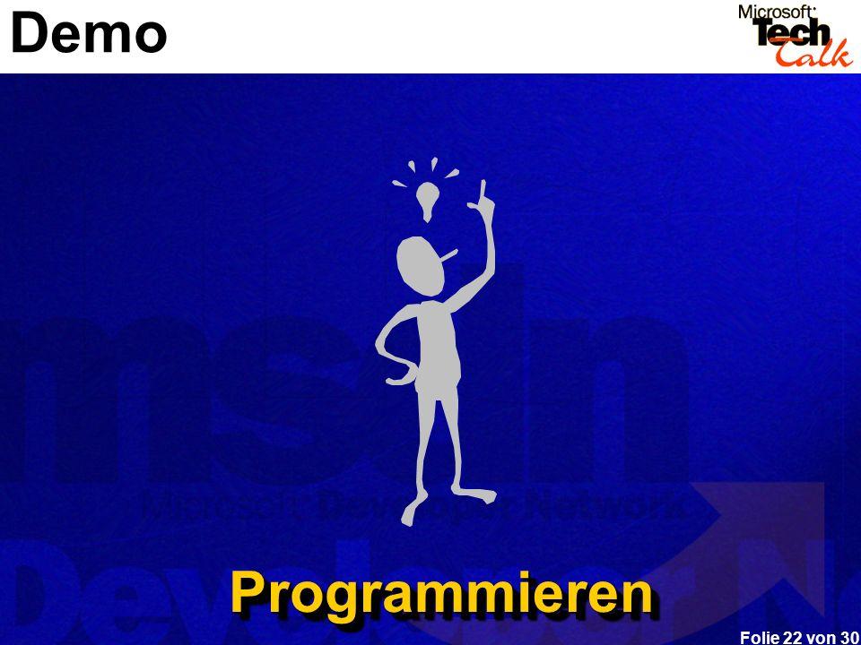 Demo Programmieren