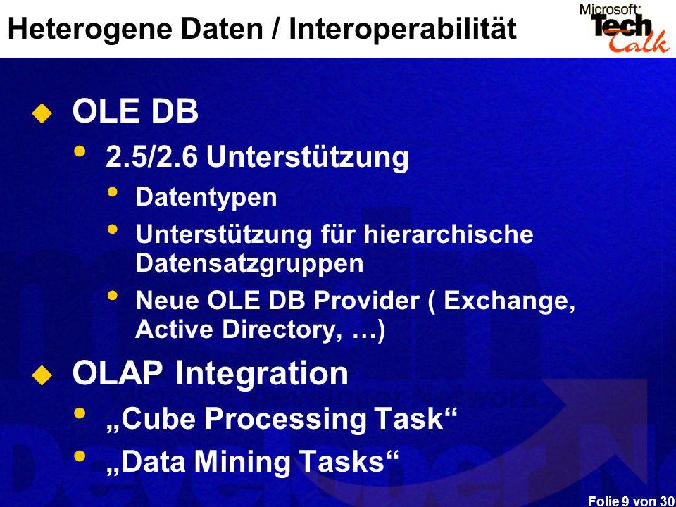 Heterogene Daten / Interoperabilität