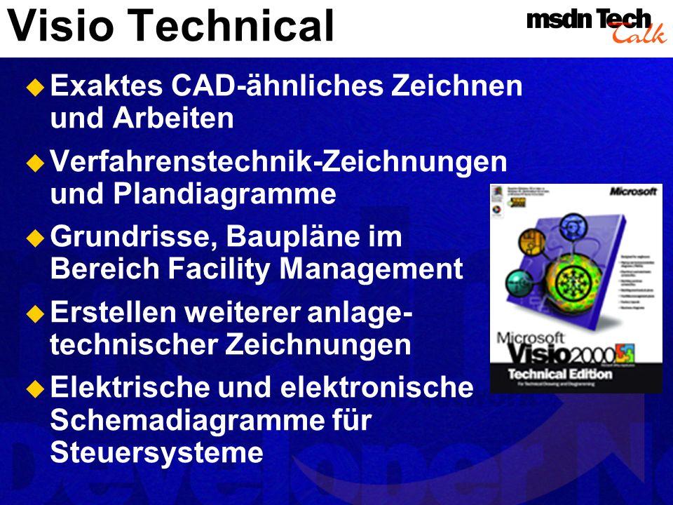 Visio Technical Exaktes CAD-ähnliches Zeichnen und Arbeiten
