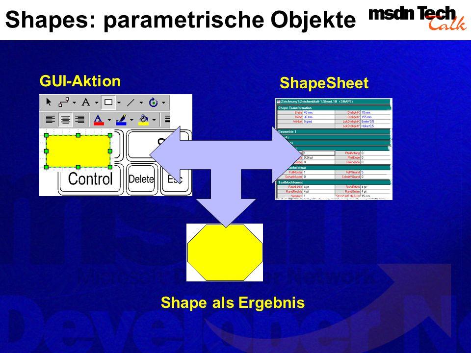 Shapes: parametrische Objekte