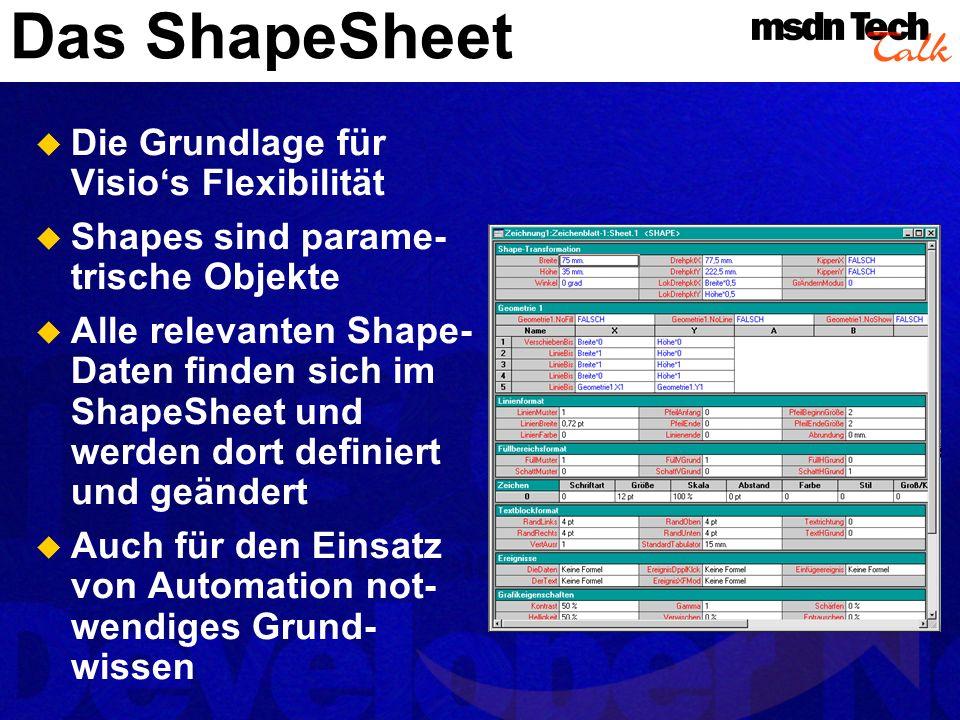 Das ShapeSheet Die Grundlage für Visio's Flexibilität