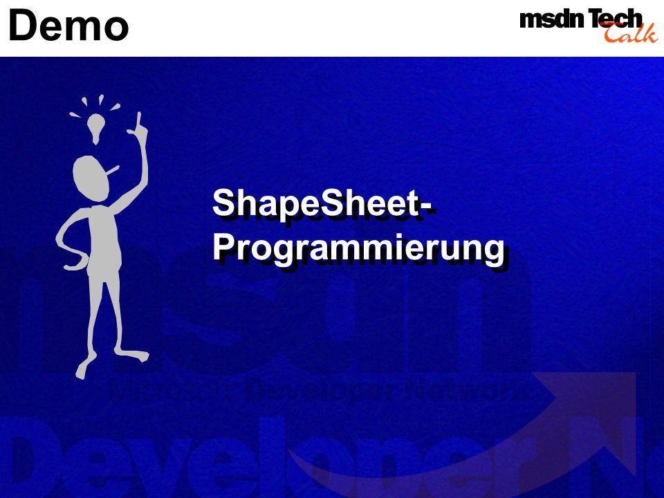 Demo ShapeSheet- Programmierung