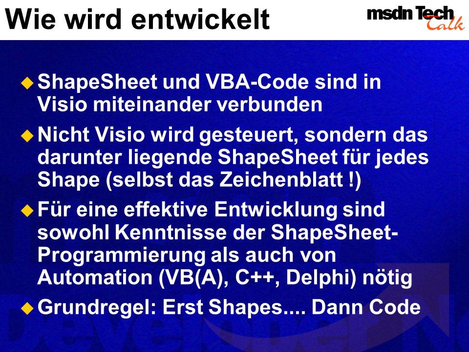 Wie wird entwickelt MSDN TechTalk – Juli 2001. Microsoft Visio als universelle Graphikengine. 29.