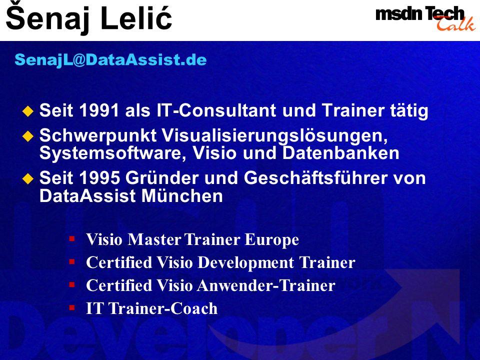 Šenaj Lelić Seit 1991 als IT-Consultant und Trainer tätig
