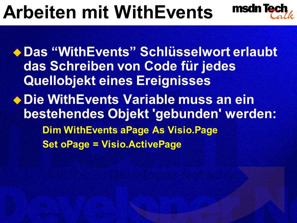 Arbeiten mit WithEvents