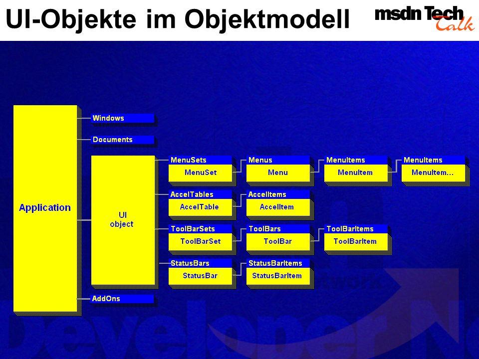 UI-Objekte im Objektmodell