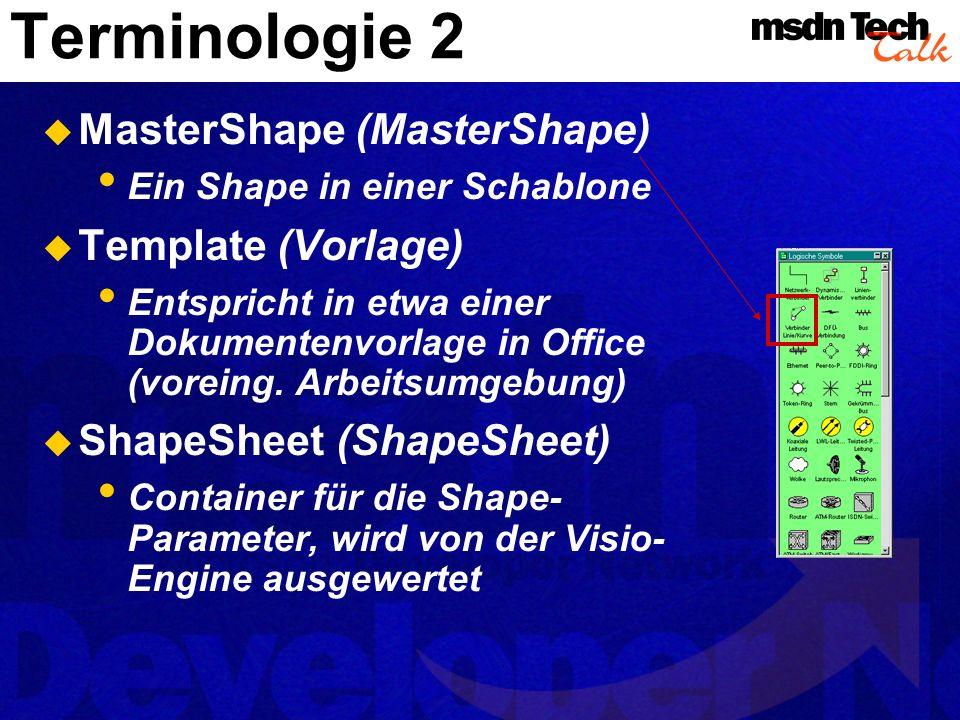 Terminologie 2 MasterShape (MasterShape) Template (Vorlage)