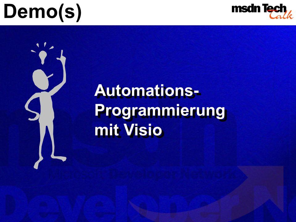 Demo(s) Automations- Programmierung mit Visio