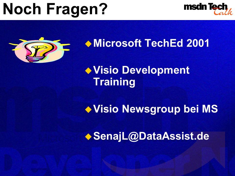 Noch Fragen Microsoft TechEd 2001 Visio Development Training