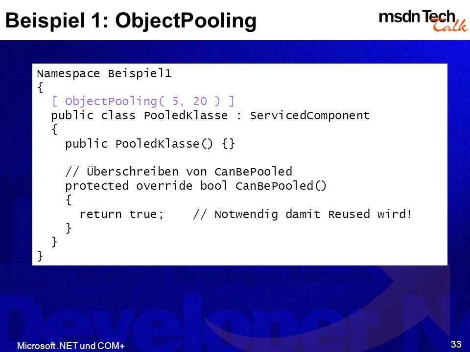 Beispiel 1: ObjectPooling